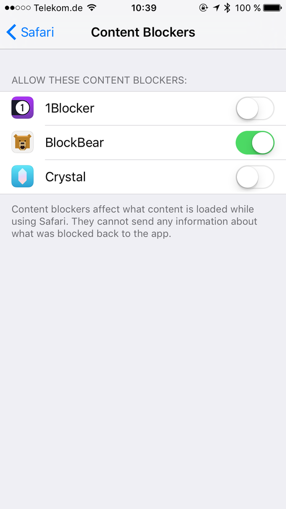 iOS AdBlocker Blockbear
