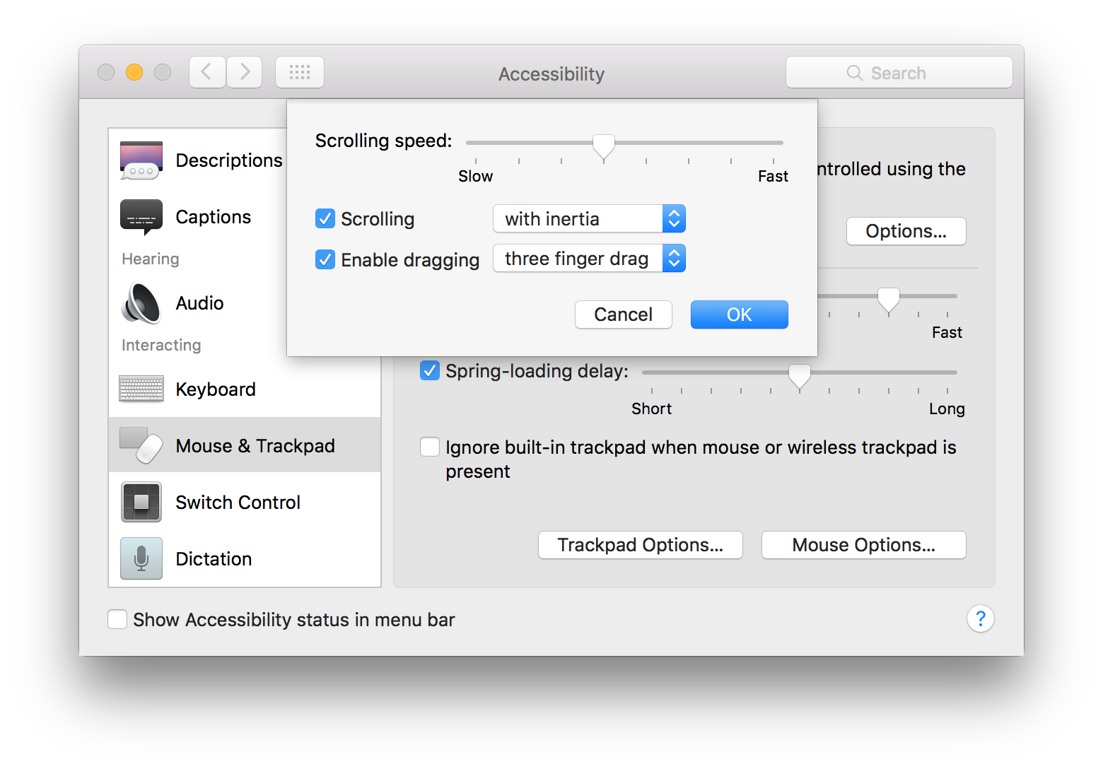 OSX: Fenster mit 3-Finger-Geste packen und bewegen