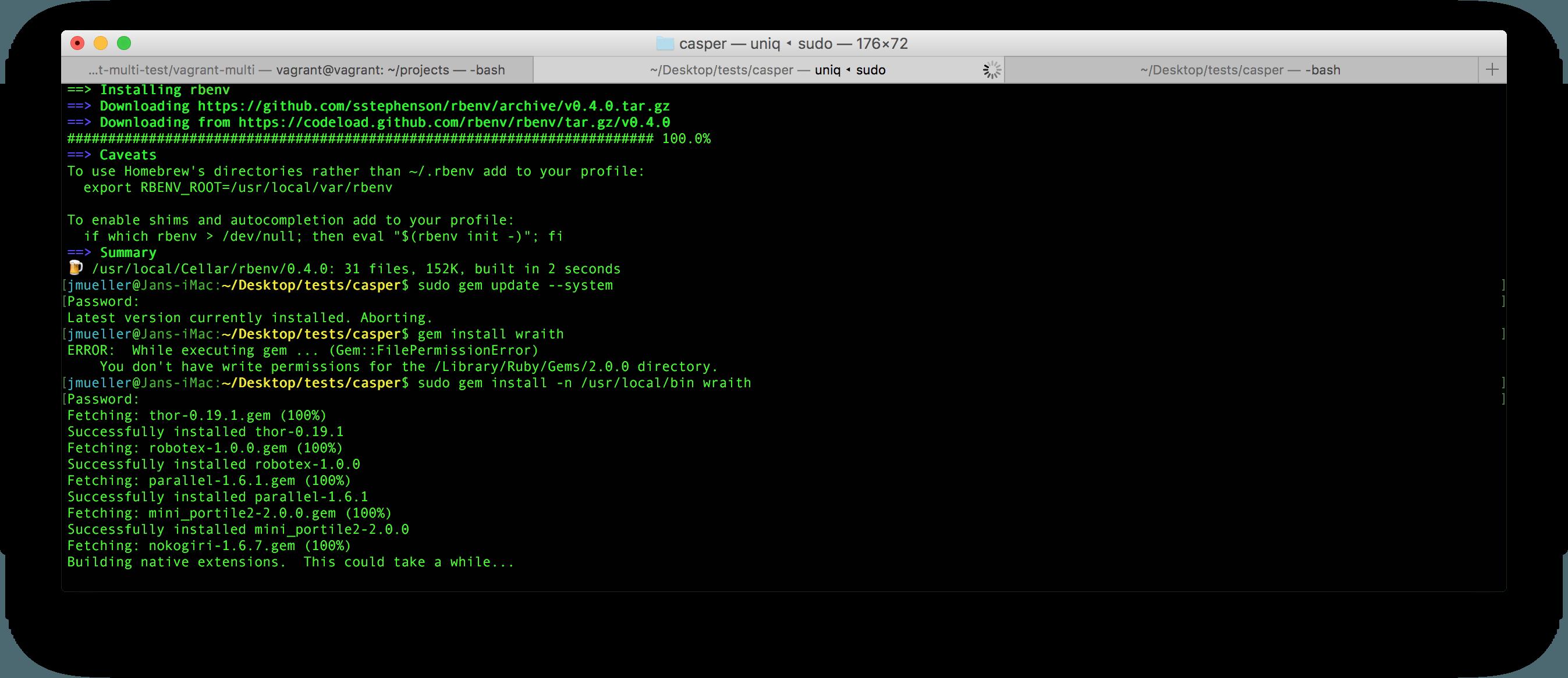Ruby Gem Installation Fehler auf OSX umgehen