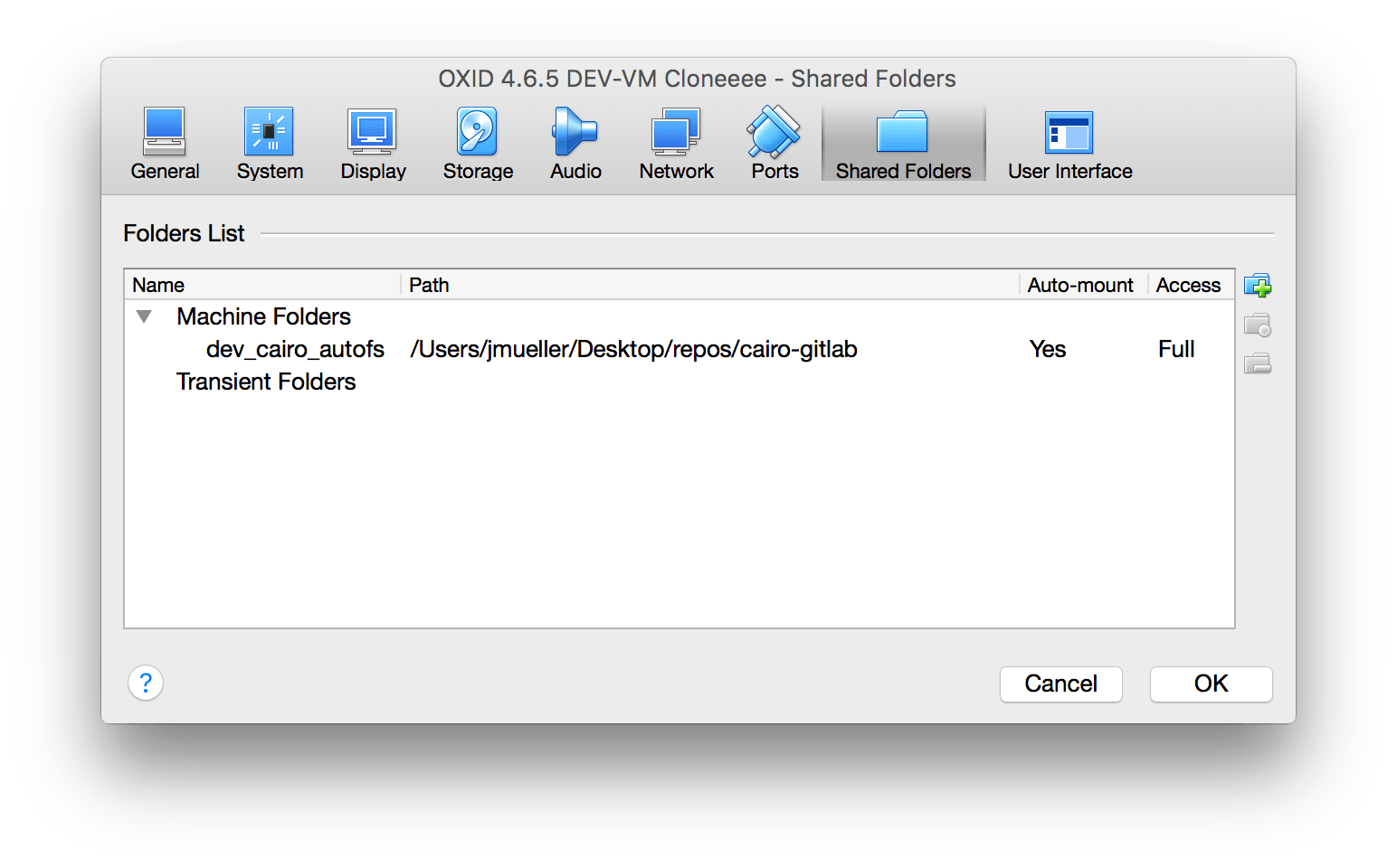 Automonunt Virtualbox Folder mit autofs